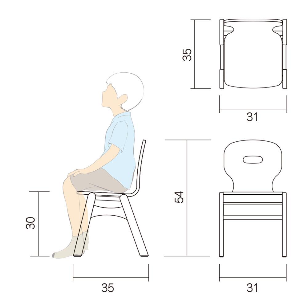 幼児 椅子 Aチェアー Atype L 図面