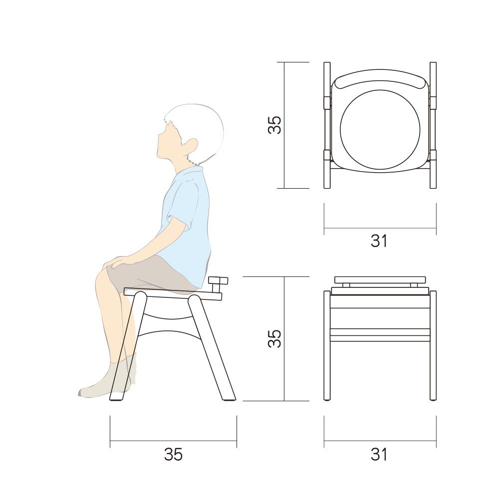 幼児 椅子 Aチェアー Btype L 図面
