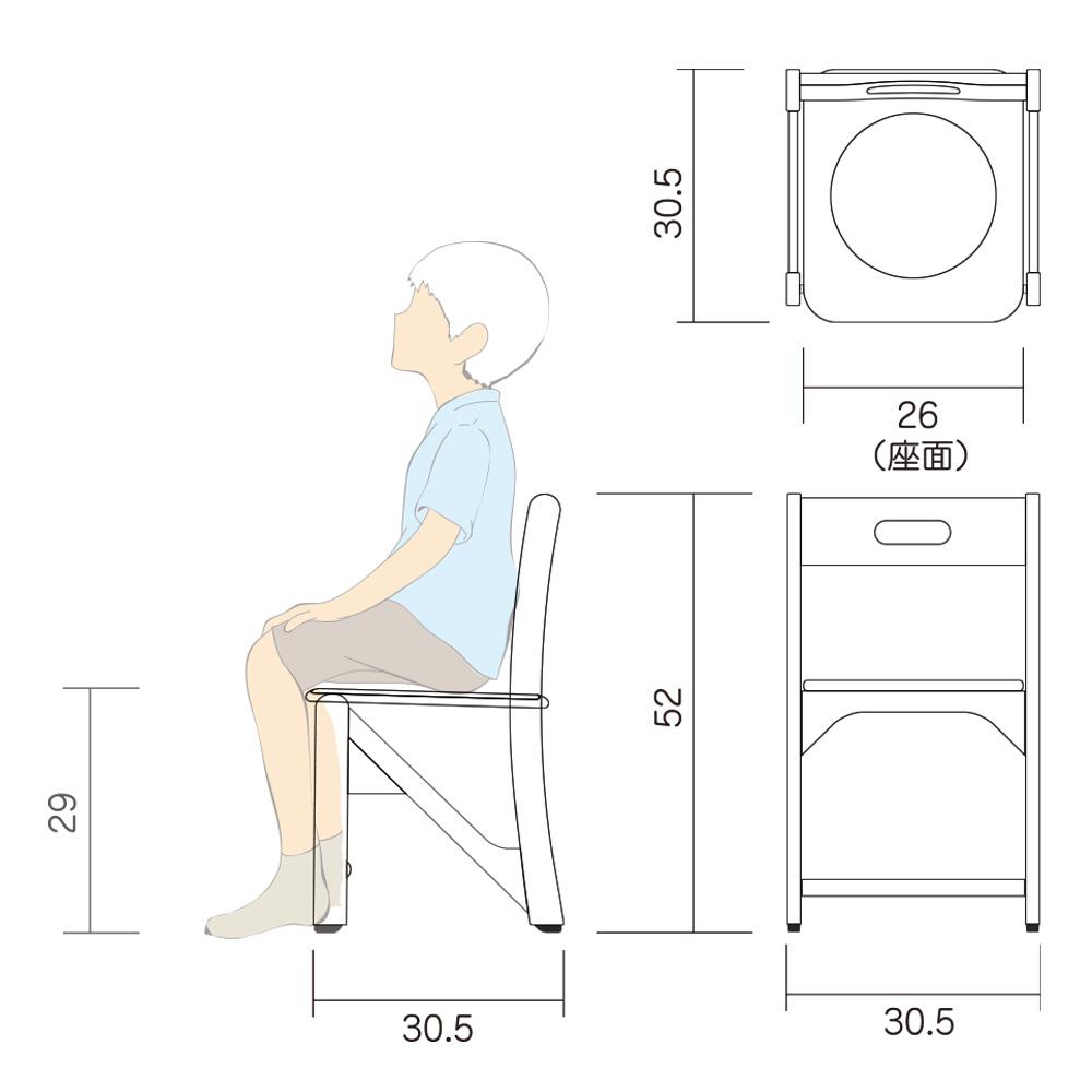 幼児 椅子 Hチェアー L 図面