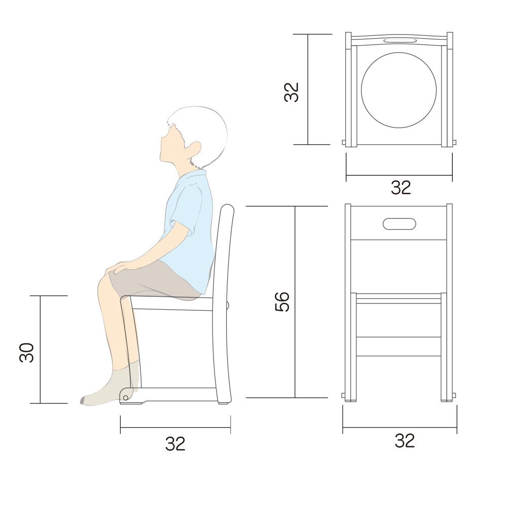 幼児 椅子 Lチェアー L 図面