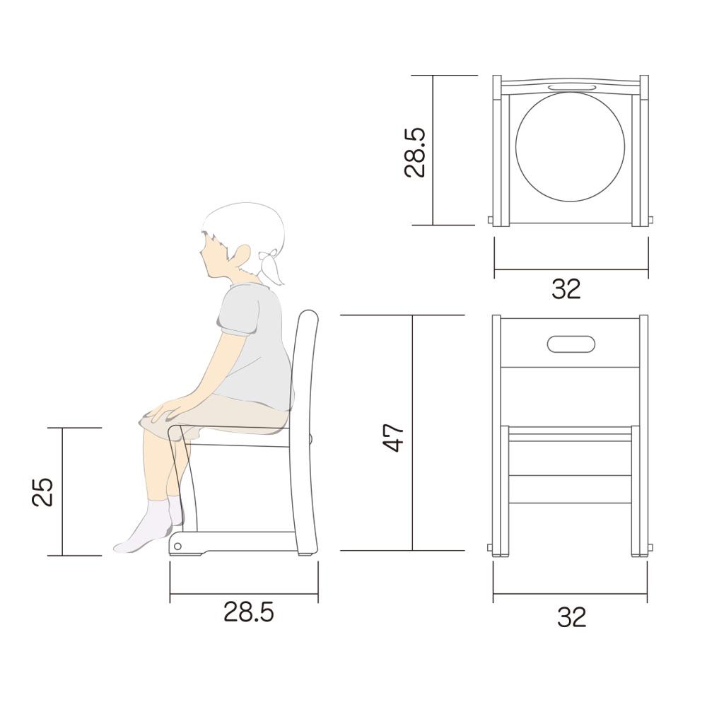幼児 椅子 Lチェアー M 図面