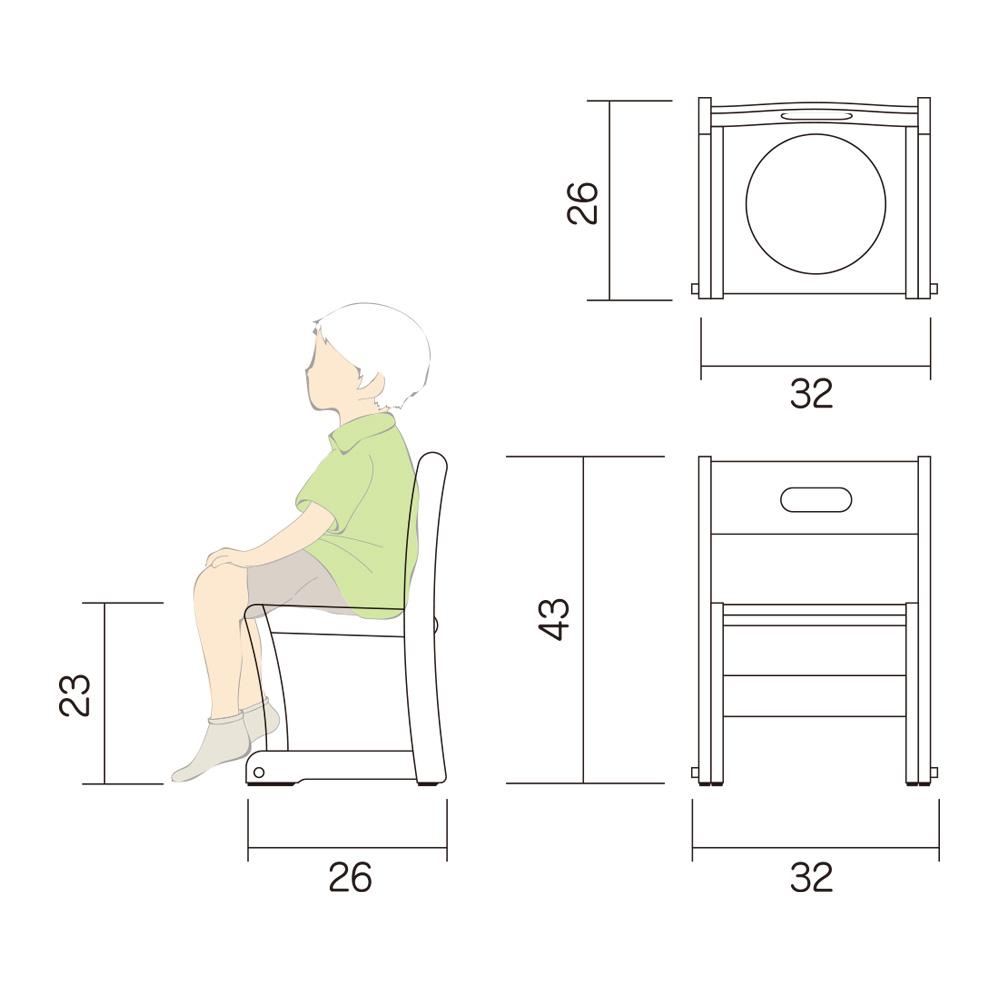 幼児 椅子 Lチェアー S2 図面